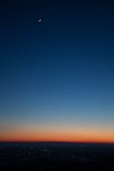 Sunset from architects boulevard (DmitryYushkevich) Tags: sunset sky moon nature canon russia naturallight ulyanovsk canon24105f4l fisheeye canon6d