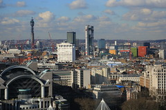 View from the London Eye (zeity121) Tags: england london wheel skyline cityscape londoneye vista postofficetower googlebuilding britishtelecomstower