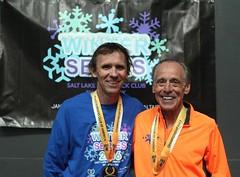 15K Feb. 27 Men's grand masters winner Bill Cobler and senior grand masters winner Lloyd Hansen