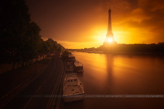 Light Never Dies (Yannick Lefevre) Tags: city morning light paris france seine sunrise river landscape spring nikon europe raw nef cityscape tripod eiffeltower may toureiffel capitale ville manfrotto 2015 leefilters d700 06gndsoft nikkor1635mmf4 09gndsoft photoshopcc lightroomcc