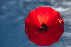 Poppies (krapzapper) Tags: red newzealand sky hot clouds pentax air balloon nz poppies wairarapa k3 krapzapper