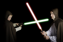 I am your Father... (Allan James Fisher) Tags: family boy dark fun star force side son battle lightsaber wars farther