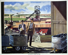 Pithead, early 1950s, school poster (Pitheadgear) Tags: pits education mine pit mining mines educational teaching schools coal miner miners colliery mineur mineworkers mineurs coalminers coalmining coalindustry mineworkings piitmen