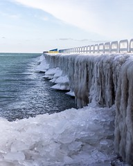 Lake Huron at Port Sanilac (Caz Ann) Tags: icecold portsanilac