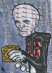 Hellraiser - Pinhead (j(ay)) Tags: jay marchofdimes pinhead psc hellraiser cenobite sketchcard steve4mod