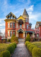 Kansas City Painted Lady (Jonathan Tasler) Tags: colorful victorian bluesky kansascity missouri paintedladies paintedlady victorianhouse pendletonheights