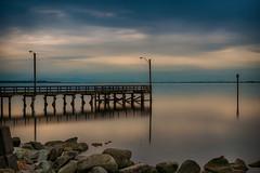Serenity on Crescent Beach (Repp1) Tags: ocean longexposure sunset mer canada beach clouds pier bc calm serenity crescentbeach serene nuages plage quai jete coucherdusoleil srnit poselongue ndfiler