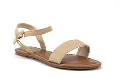 Iynx Ankle Strap Open Toe Nude Sandals (jazame_shoes) Tags: ladies toe open sandals strap ankle blackflower iynx elm3