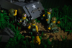 R&R at Sunrise (LoganLego) Tags: lego vietnam brickarms citizenbrick