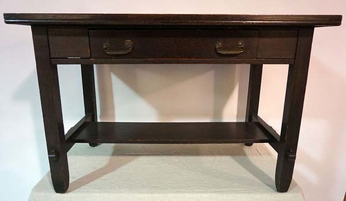 Arts & Crafts Style Library Table w/ Drawer - $143.00
