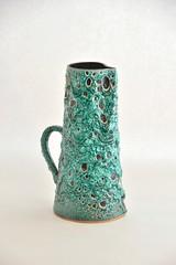 cyclope_green_DSC0066 (dekker@dekker) Tags: france lava ceramics fat vase pottery vaas keramiek cyclope vallauris volcanicglazes