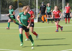 Carmel in control and looking up to find a pass as Greenfields build another attacking move (Greenfields Hockey Club) Tags: hockey cork connacht quins harlequins greenfields dangan ihl irishhockeyleague greenfieldshockeyclub irishhockey connachthockey hockeygalway corkharlequins