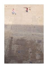Bankside (mkel) Tags: light shadow england people urban london children view decay pigeons ground minimal tatemodern emptiness bankside