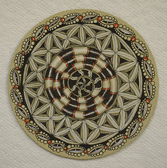 No. 363 (aaspforswestin) Tags: project pattern renaissance 365project zentangle zendala gellypen tanglepattern whitecharcoalpencil zentangleproject