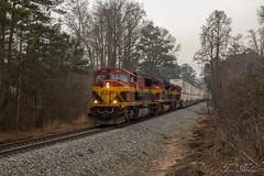 NS 220 at MP 621.0 (travisnewman100) Tags: city railroad train ns district norfolk alabama east southern end belle kansas jb mp division freight hunt kcs 621 emd intermodal sd70mac