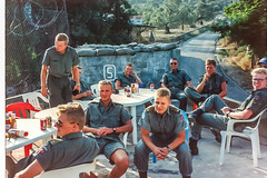 1992 UNIFIL - Gathering the platoon for a pep talk. (Normann Photography) Tags: lebanon norway un unitednations service 1992 peacekeepers libanon coya norwegianarmy kompania unifil unitednationsinterimforceinlebanon unitednationsinterimforcesinlebanon fntjeneste
