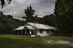 (farenough) Tags: old chimney cloud white history abandoned rural was wooden florida decay south explore forgotten memory fl once cracker southeast clapboard wander rurex