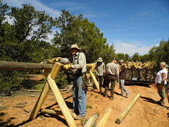 Getting Started (BLMUtah) Tags: friends archaeology field fence project utah office day earth rail cedar kane volunteer buck monticello partnership mesa cultural resources gulch blm bureauoflandmanagement stewardship earthday2016