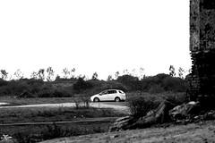 Punto @ Shettihalli (briejeshpatel) Tags: light india white church car closeup bangalore karnataka bahubali vibgyor shravanabelagola fiatpunto chandragiri vindhyagiri gommateshvara channarayapatna canon7d jainmonk briejeshpatel sevenwondersofindia remainsofthechurch
