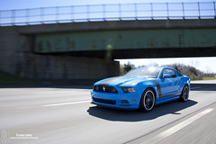 Smurf (Brandon Bailey Design/Photography) Tags: auto bridge boss blue ford car america automobile shot muscle automotive american vehicle mustang smurf rolling 302