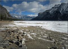 Lake Minniewanka, Banff, Alberta (minniemouseaunt) Tags: winter mountains nationalpark elements mountainscenery mountminniewankabanffalberta mountminniewankamountainscenery