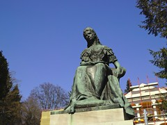 Statue of princess Sissi in Bardejov spa