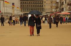 Belgian coast (Natali Antonovich) Tags: portrait architecture umbrella walking couple walk pair lifestyle together harmony promenade tradition relaxation citylandscape oostende seashore seasideresort accordance belgiancoast seaboard heandshe