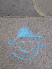 Blue Cap (lmurphy) Tags: art chalk potd mountainview