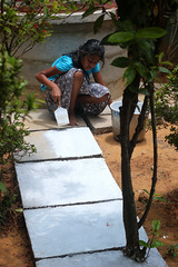 Pathway to the well (Nagarjun) Tags: summer white painting paint kerala well primer kiran tatu tomsawyer kanishka kinu whitewashing aluva takshila