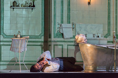 Ludovic Tézier in Katie Mitchell's Lucia di Lammermoor ©2016 ROH. Photograph by Stephen Cummiskey (Royal Opera House Covent Garden) Tags: music opera coventgarden royaloperahouse royalopera donizetti luciadilammermoor charlescastronovo dianadamrau bykatiemitchell