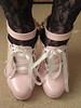 sissy barbie in maid's serving shoes (sissybarbie1066) Tags: baby pink sissy maid serving shoes locked padlock docile pose 6inchheels