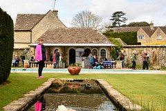 101 2016 at the Rare Plant Fair, the Old Rectory (Margaret Stranks) Tags: uk reflection water urn pond arches cotswolds gloucestershire refreshments oldrectory 2016 365days quenington 101366 rareplantfair