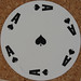 Round Playing Card Ace of Spades