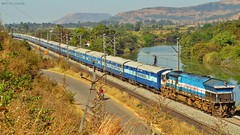 Happy 163rd B'day INDIAN Railways! (AyushKamal2014) Tags: kamshet 20020 udyanexpress ublwdp4