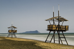 the guardians of Circeo (Antonio Ciampriello) Tags: sea italy bay italia mare latina sole spiaggia baywatch vacanze circeo