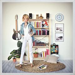 Nuevo suelo blanco para dioramas (Sandra) Tags: ikea ooak barbie diorama repaint onesixth barbiestyle madetomove thescissorsmadrid