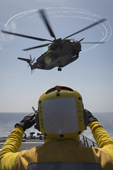 160406-N-FQ994-169 (CNE CNA C6F) Tags: sailor usnavy mediterraneansea ch53 israeliairforce ussporterddg78 exercisenobledina2016