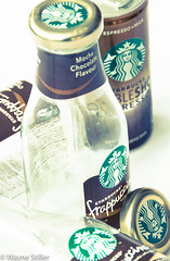 coffee anyone (Wayne Stiller) Tags: white black glass coffee milk drink can expresso lid starbuck