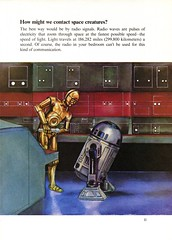 How might we contact space creatures (Tom Simpson) Tags: illustration vintage starwars space science r2d2 c3p0 microphone 1970s controlroom childrensbook 1979 deathstar droids threepio artoo dinahlmoche davidkawami
