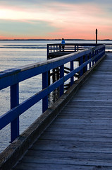When I look to the west (James_D_Images) Tags: ocean pink sunset sky woman west water clouds person pier looking dusk britishcolumbia surrey crescentbeach