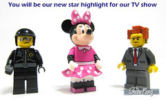 You will be our new star highlight for our TV show (WhiteFang (Eurobricks)) Tags: city pet castle history sports animal fairytale town costume ancient lego god cosplay good ninja space evil hobby disney medieval fantasy series characters minifig superheroes walt myth mecha distribution collectable licensed minifigures cmfs