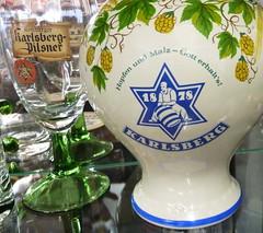 Karlsberg Pilsner (micky the pixel) Tags: beer museum germany logo deutschland bier hop glas hopfen saarland karlsberg homburg bierkrug beermug brauereimuseum mangelhausen karlsbergbrauerei fassroller