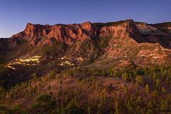 La Plata path, Gran Canaria. (Alberto Vera m) Tags: blue mountains azul de islands la spain camino canarias hour hora plata gran canary islas canaria montaas riscos
