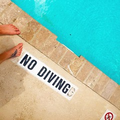 No diving, unless it's headfirst into your goals. Sometimes the best work can be done when you seem to be hardly working. Take a break and see what problems your brain can sort out. #digitalnomad #workfromanywhere #poolside #atx #localtourist #wanderlust (ClevrCat) Tags: its work out see break you no working diving can brain best wanderlust your when goals be take what sometimes done poolside seem problems sort hardly atx unless headfirst localtourist digitalnomad workfromanywhere instagram ifttt
