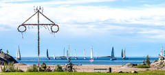 regatta from Casino copy (Tapio Kekkonen) Tags: summer moon beach sunrise sailing hanko subset bech finlad