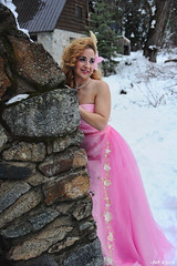 Warm Glance (All About Light!) Tags: fashion glamour models sierras pinkdress snowprincess arthurkochphotography