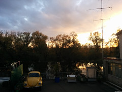 Sunset with Yellow Beetle in Munderkingen (VillageHero) Tags: flickr simplybeautiful
