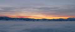 Yes, another sunset (Silas Abbott) Tags: pink blue winter sunset red orange mountain snow cinema mountains cold nature colors beautiful yellow fog clouds sunrise landscape evening washington shot bright hill wide deep hills hidden covered valley fields wa flowing wenatchee cinematography brilliant
