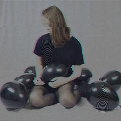 pity party (elizaabethaanne) Tags: party portrait black self balloons studio 3d vhs vcr pity distort nikond3200