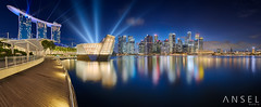 Flawless Sapphire (draken413o) Tags: show travel blue light urban panorama skyline night marina wow bay singapore asia skyscrapers cityscapes places sands scenes destinations